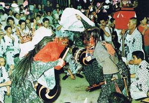 東京清瀬 日枝神社・水天宮 獅子舞